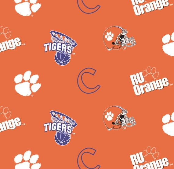 University Of Clemson Collegiate Cotton Fabric 1 Yard