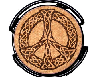 Celtic Peace Symbol Cork Coaster Set