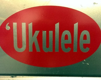 Ukulele Decal Etsy