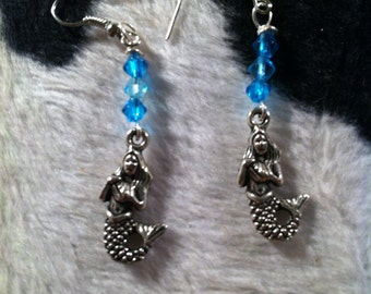 Mermaid and Crystal Earrings