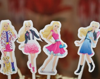 Barbie Fashion Cupcake Cake Toppers Set of 12