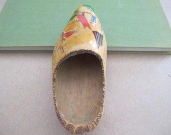 Vintage Wooden Shoe, Vintage Wooden Dutch Shoe, Antique Wooden Shoe, Antique Wooden Dutch Shoe, Dutch Shoe, Wooden Dutch Shoe