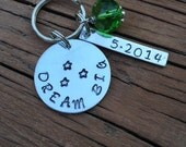 DreAm Big Key Chain - Motivational Keychain - Coach Gift - Mentor Gift - Emerald Coach Gift
