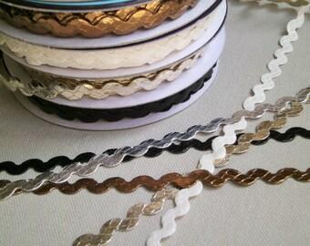 "1 m Rickrack  trim ""Snake"" 8 mm w Animalprint"