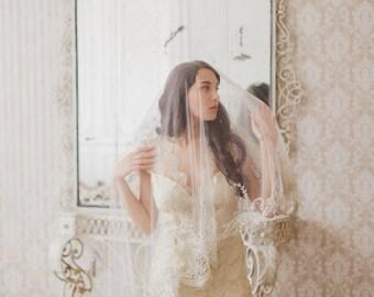 Wedding Veil - Art Deco version-2   (Made to Order)