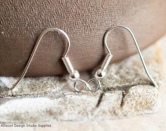 10 Pairs Silver 20mm Hook Earrings (F0082) Lead and Nickel Free