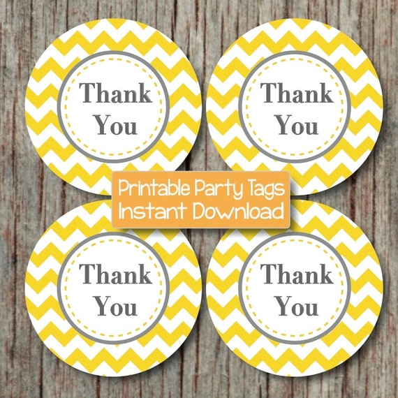 Items Similar To Thank You Tags Birthday Party Baby Shower