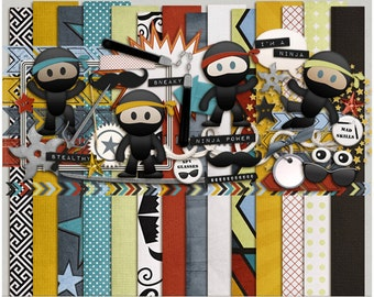 Imma Ninja - Papers & Elements for Digital Scrapbooking