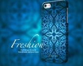 iPhone 5s case blue flowers damask iPhone 5 case floral pattern, iPhone 5c case, iPhone 4 case, iPhone 4s case floral phone 101