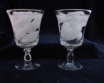 "Fostoria ""Century"" Goblet Elegant glass Iced tea or water, stemware, barware"