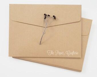 Kraft Rectangle Envelopes - Pack of 20