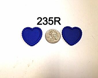2/3/5 pc Royal Blue Heart Shaped Cameo Resin #235R flat back Bottle cap for Bow Center or Pendant
