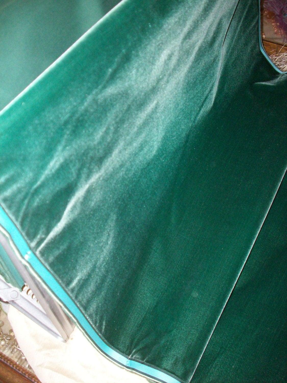 Antique Victorian Silk Velvet Fabric Yardage Made In France