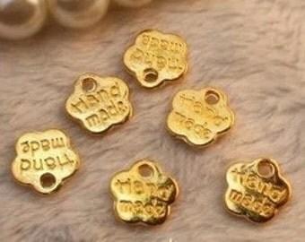 100pcs antique gold plum blossom  Charm Pendants  8mm  little plum blossom