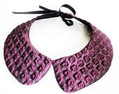 Purple and lurex collar necklace, Accessory for Party