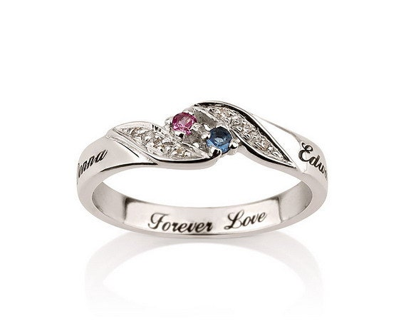 personalized engraved promise ring engagement by