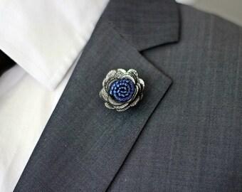 Daisy flower lapel pin, Mens lapel flower Boutonniere,Leather Lapel Flower pin, rose boutonniere, flower lapel pin, mens gift,