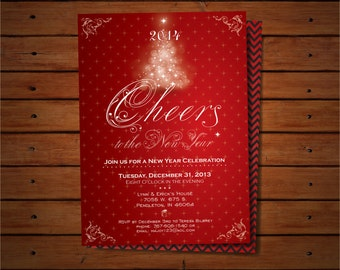 New Year Printable Invitation, Cheers to the New Year