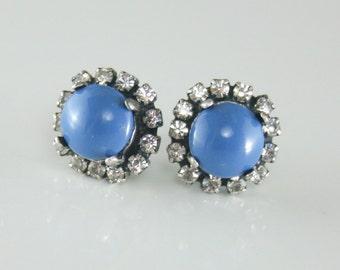 Swarovski earrings,Blue Lapis earrings,Blue pearl earring,Blue Swarovski crystal earrings,Halo earrings,Blue wedding jewelry,Blue bridesmaid