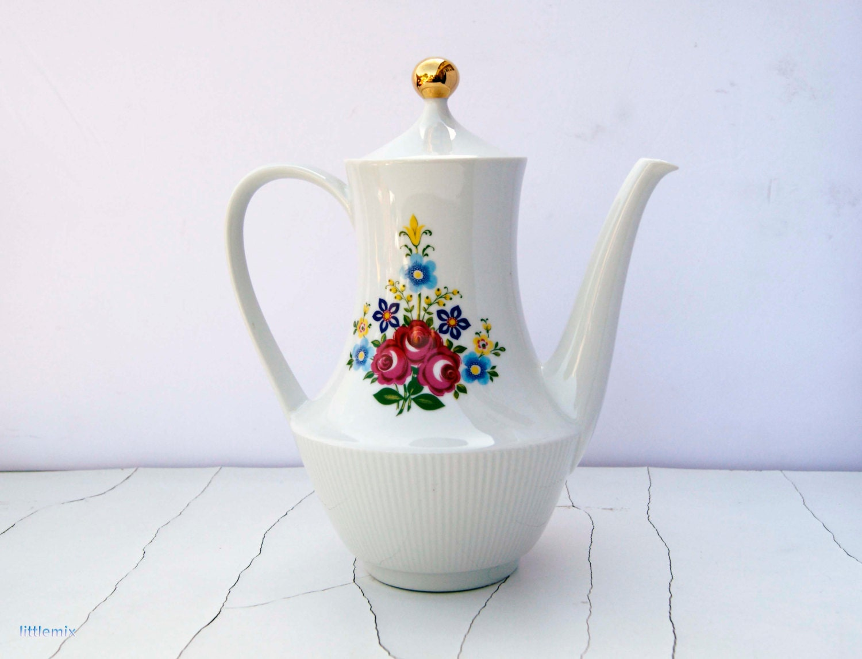 Vintage Large Mitterteich Bavaria, Germany porcelain tea