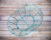 Brown or Turquoise Chicken Wire Basket, Newborn Posing Basket, Photography Prop