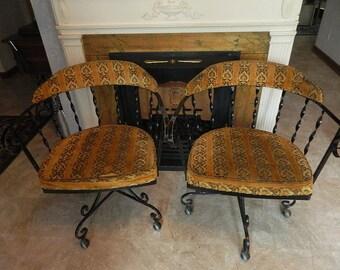 Pair of Mid Century Modern Swivel Chairs