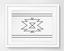 Navajo Print, Aztec Home Decor, Native American Art, Southwestern Decor, Navajo Wall Art, Cherokee Art, South Western, Aztec Art Prints