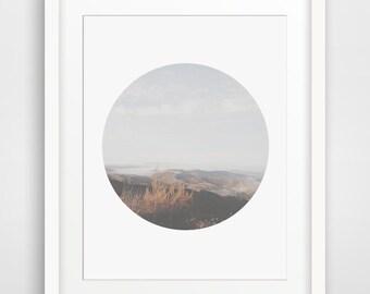 Mountain Photography, Mountain Print, Sky Photography, Sky Print, Mountain and Sky Art, Light Grey and Sky Blue Art, Brown Mountains