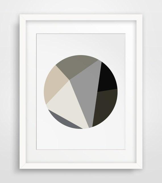 Minimalist art geometric print circle wall art brown art for Minimal artwork