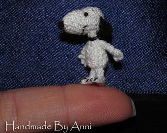 Miniature Snoopy dog miniature amigurumi Snoopy dollhouse toys doll house toys crochet miniatures