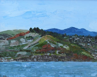 Marin Headlands- Oil Painting with palette knife
