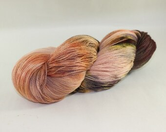 Merino Hand Painted Wool Yarn, Lace weight, 2ply, mill spun, hand painted. 100% merino, eoco friendly dye