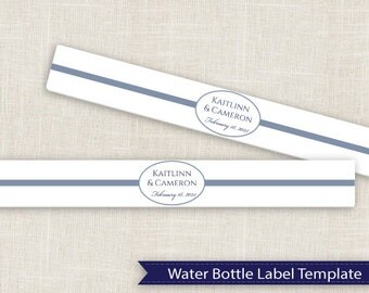 Popular items for diy water bottle on etsy for Water bottle labels template avery