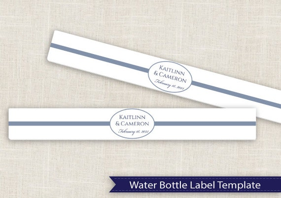 water bottle labels template avery - diy water bottle label template for avery 22845 by
