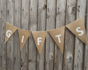 Gifts Banner Gifts Sign Gifts Burlap Banner Wedding Gifts Banner Birthday Gifts Banner Celebration Banner Party Gifts Banner Wedding Banner