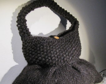 K95 Hand Knitted Dark Brown daily over the shoulder bag - Ready to Ship