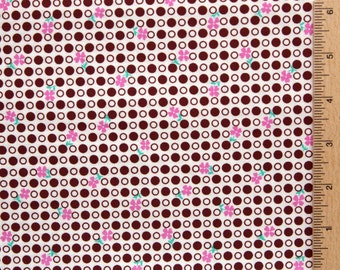 Jennifer Paganelli fabric polka dot fabric So St. Croix Carla JP38 BROWN Free Spirit 100% Cotton sewing/quilting fabric by the yard