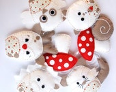 MADE TO ORDER - Woodland animals garland - Wool felt, baby nursery, bunting, Perth
