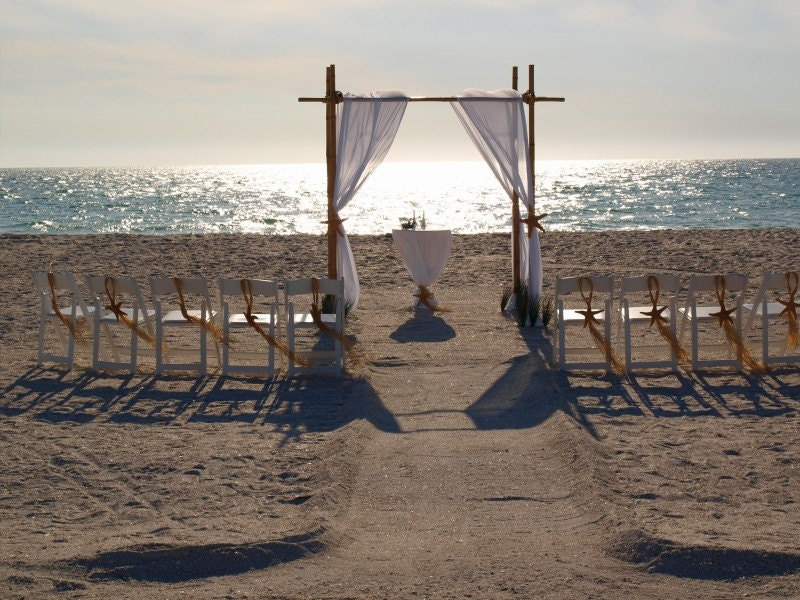 Beach Wedding Arch Ideas: Wedding Arch/Wedding Chuppah/Bamboo Chuppah/bamboo Wedding
