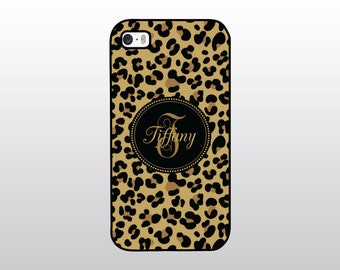 Leopard Print iPhone Case - Leopard iPhone Case - Hollywood Glam iPhone - Animal Print iPhone - Monogrammed Gift for Her -