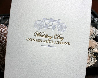 Letterpress Wedding Card - Vintage