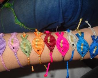 Underwater love Macrame fish bracelets
