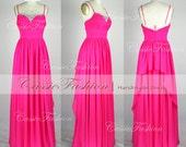 2014 Floor Length Straps Chiffon Dresses,Cocktail Dress,Prom Dress,Party Dress,Evening Dress