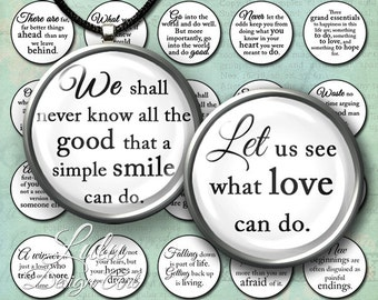 Inspirational Sayings - Instant Download, 1 inch circle images, round images, quotes, bottle cap images, bottle caps, digital stamp, magnet