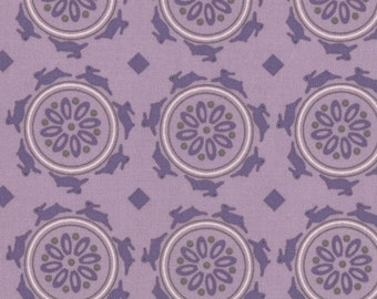 One Yard Jubilee - Medallion Bunny in Mauve - Cotton Quilt Fabric - from Bunny Hill Designs for Moda - 2853-19 (W1351)