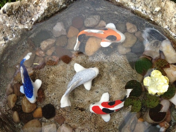 Unavailable listing on etsy for Artificial fish pond