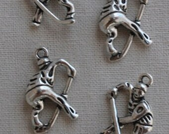 Hockey Player Charms-FINAL CLEARANCE-Set of 6
