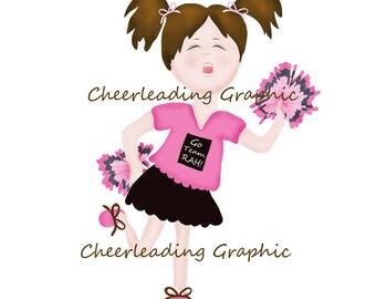 Cheerleader Graphic No.1 - Scrapbooking - Digital