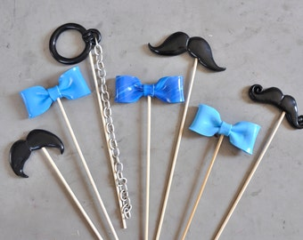 "photobooth lot accessories ""blue for him"""