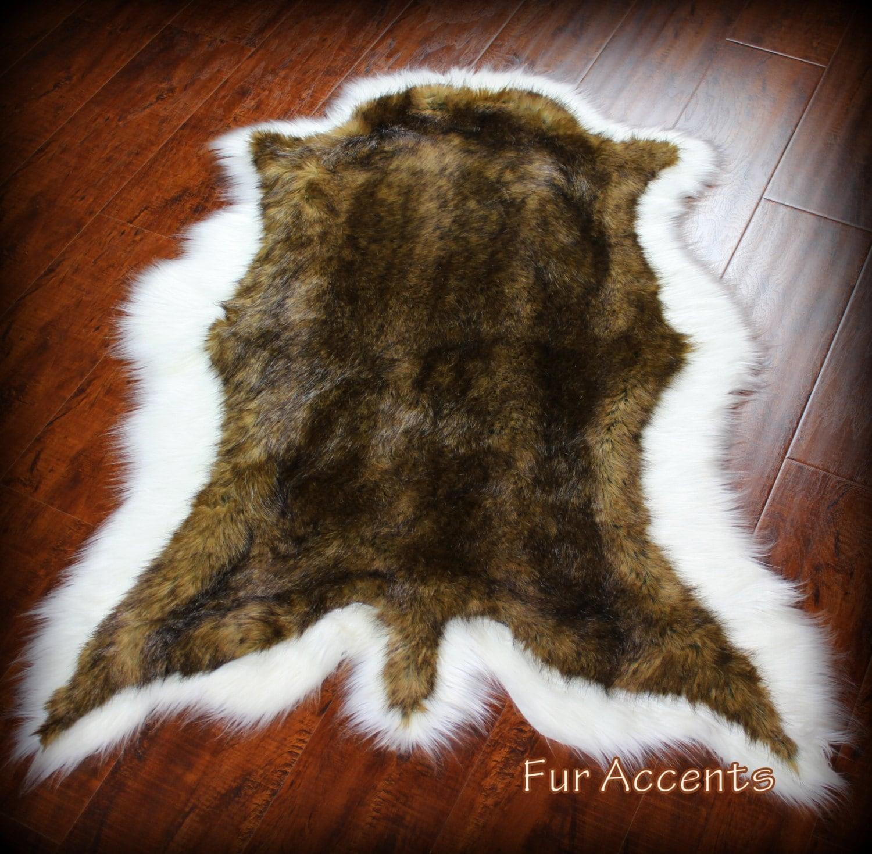 Fur Accents Classic Deer Skin Pelt Rug Premium Faux Fur